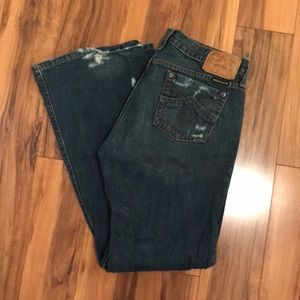 Distressed Stetson Jeans